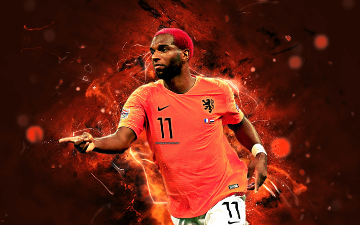 Download Wallpapers Ryan Babel Abstract Art Netherlands National Team Fan Art Babel Soccer Footballers Neon Lights Dutch Football Team Besthqwallpapers Ryan Babel Fan Art Football Team