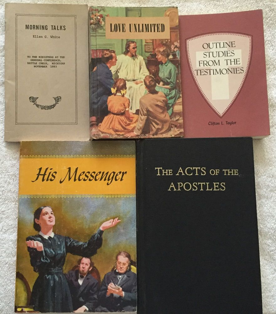 5 Books Written By Or About Ellen G White Seventh Day Adventist