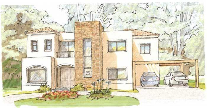 Bocetos De Casas Modernas Dibujos Buscar Con Google Dibujo De Un