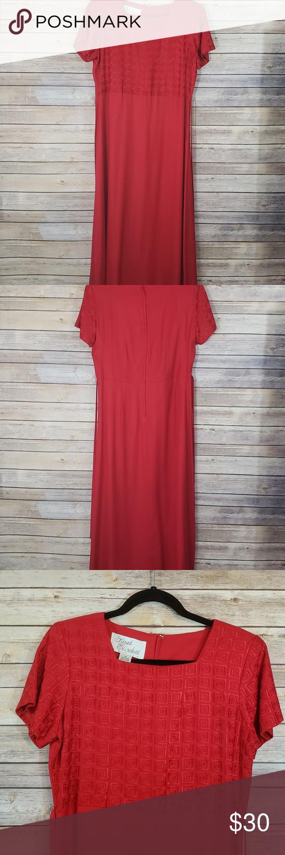Red Sarah Elizabeth Maxi Dress 6 P   Soft dress, Dresses ...