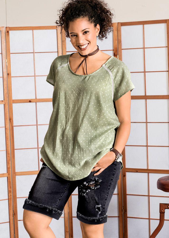 Bluse #ullapopken #yu #plussizestyle