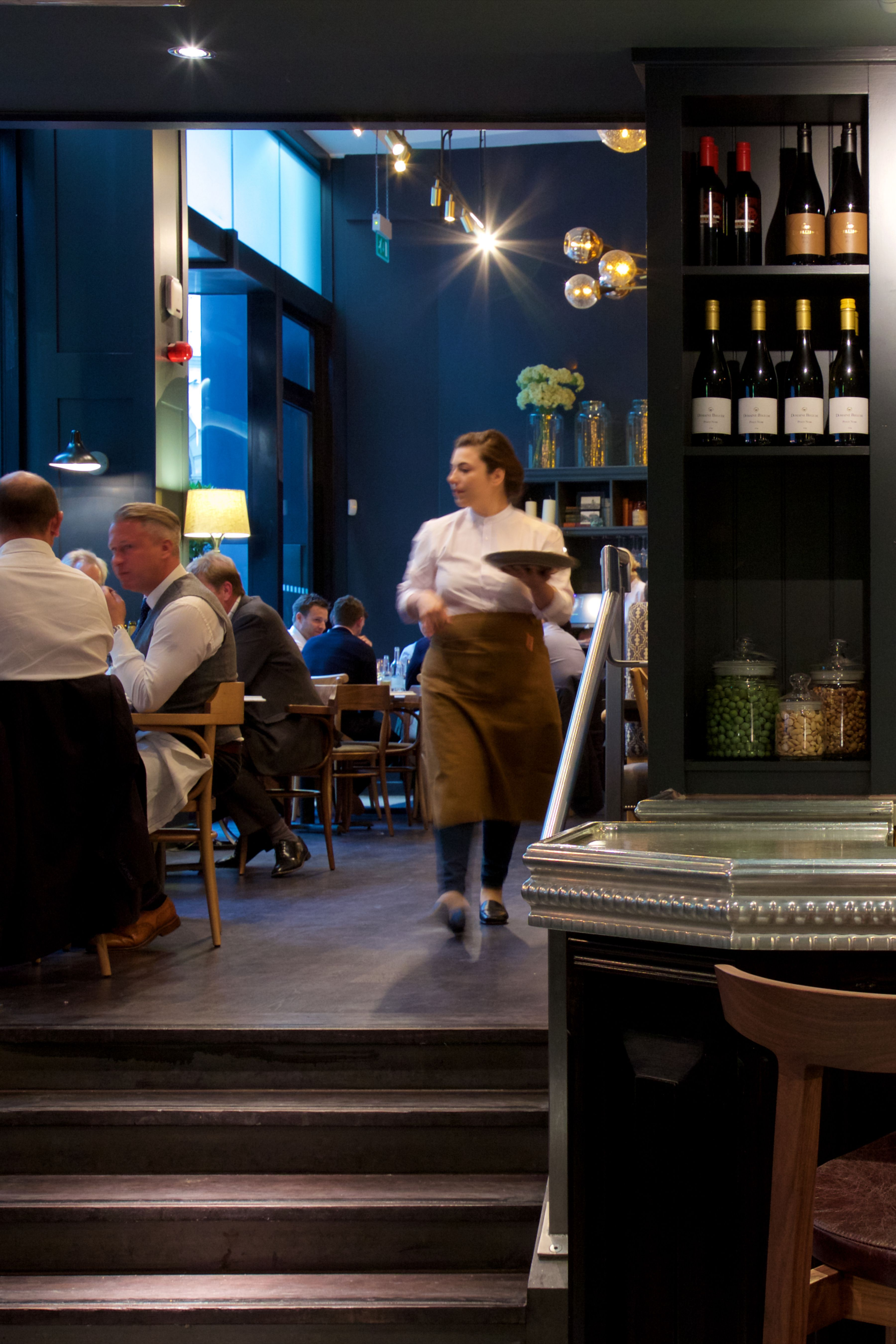 Take a break from the city and have a drink at our beautiful bar.