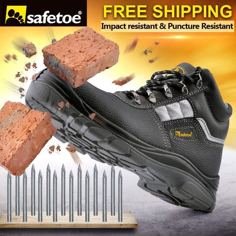 Sale Safetoe Brand Safety Shoes Work Boots Men Steel Toe Cap Light Weight  Breathable Working Safty Footwear  Steel  Boots b62bbe8def
