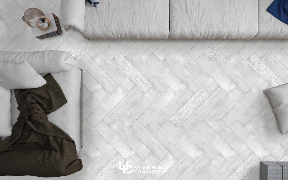 Gres Porcellanato Effetto Legno Bianco Lucido.La Fenice Serie Shabby Wood 15x60 Bianco Gres Porcellanato