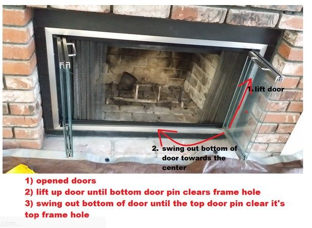 How To Remove Fireplace Doors And Frame Cleaning Hacks