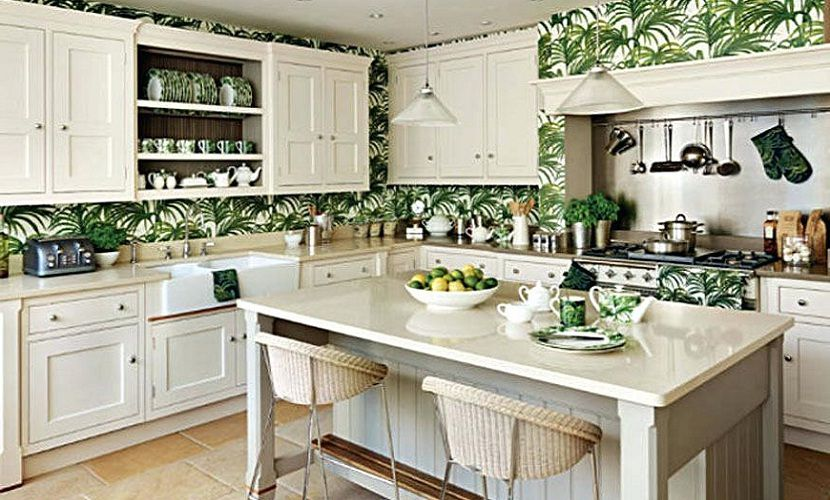 Tropical Kitchen Decorating Ideas With Fancy Cabinet Kitchens Kitchendesign Kitchenisland Kitchenorganization Kitchenhack Interior