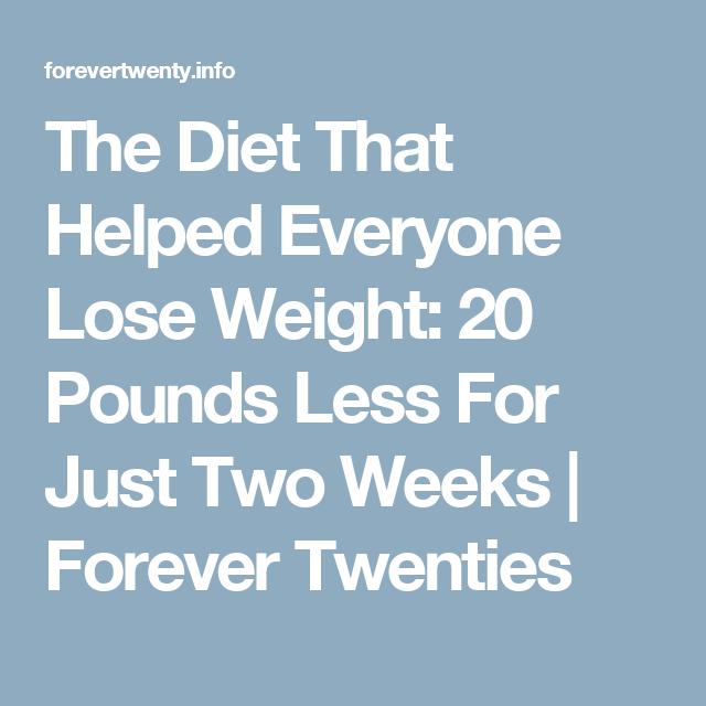 Dr oz weight loss 2 week