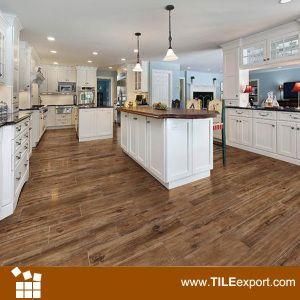 Hot Item Wooden Grain Floor Tile 615202 Wood Look Tile Floor