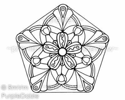 Printable Coloring Page Mandala Coloring Zen Doodle Large JPEG File ...