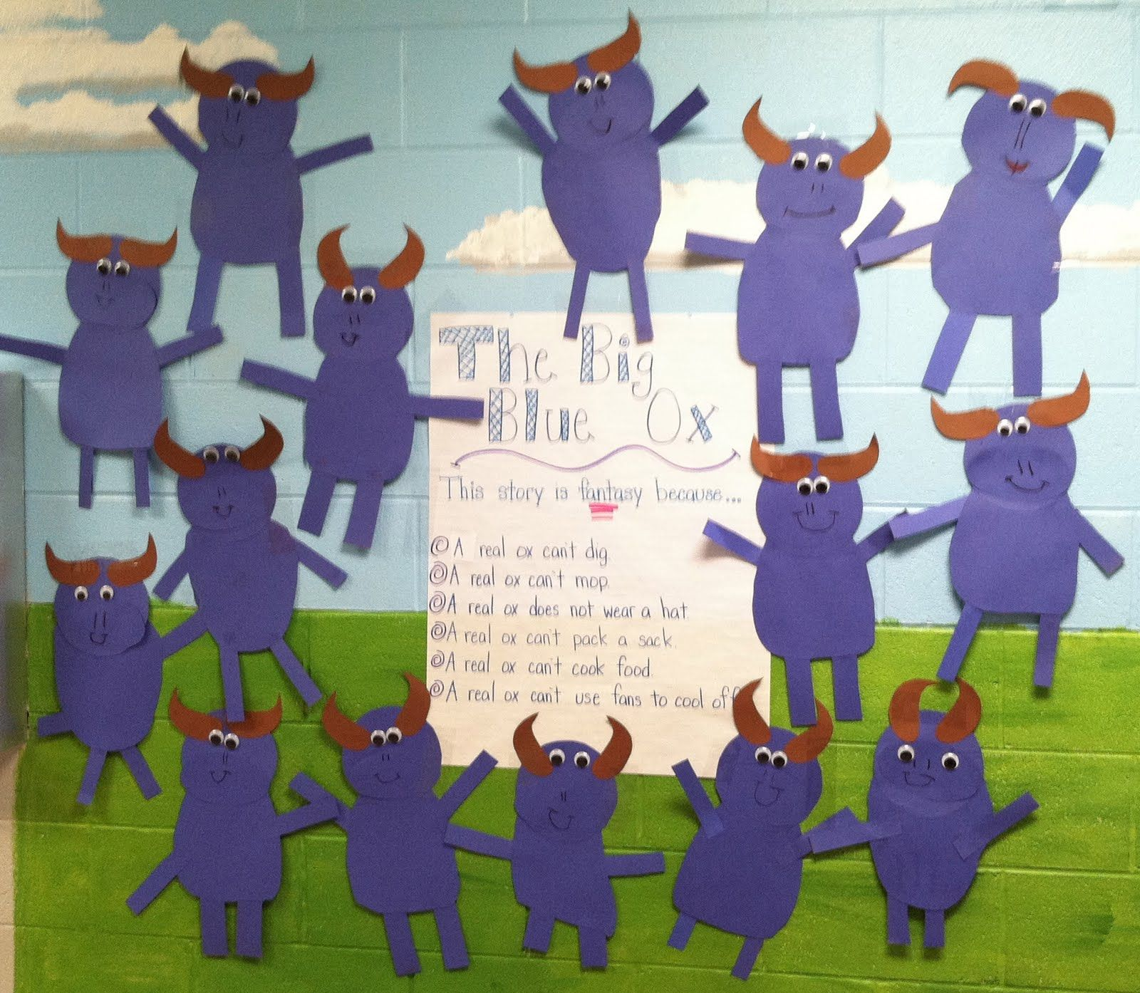Life In First Grade The Big Blue Ox And More Reading