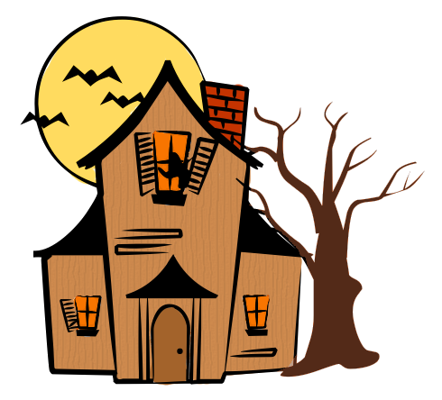 haunted house color halloween clip art pinterest house colors rh pinterest com au haunted house clipart outline haunted house clipart black and white