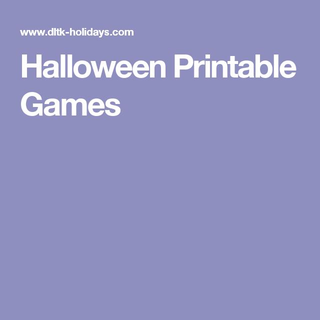 Halloween Printable Games | Halloween Printables | Pinterest ...