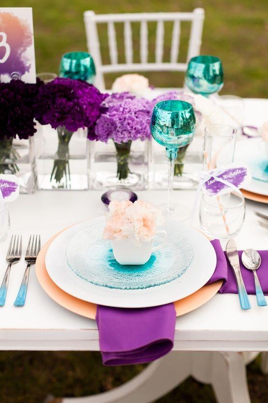 Inspiration of the Day | Pinterest | Teal, Teal table and Wedding