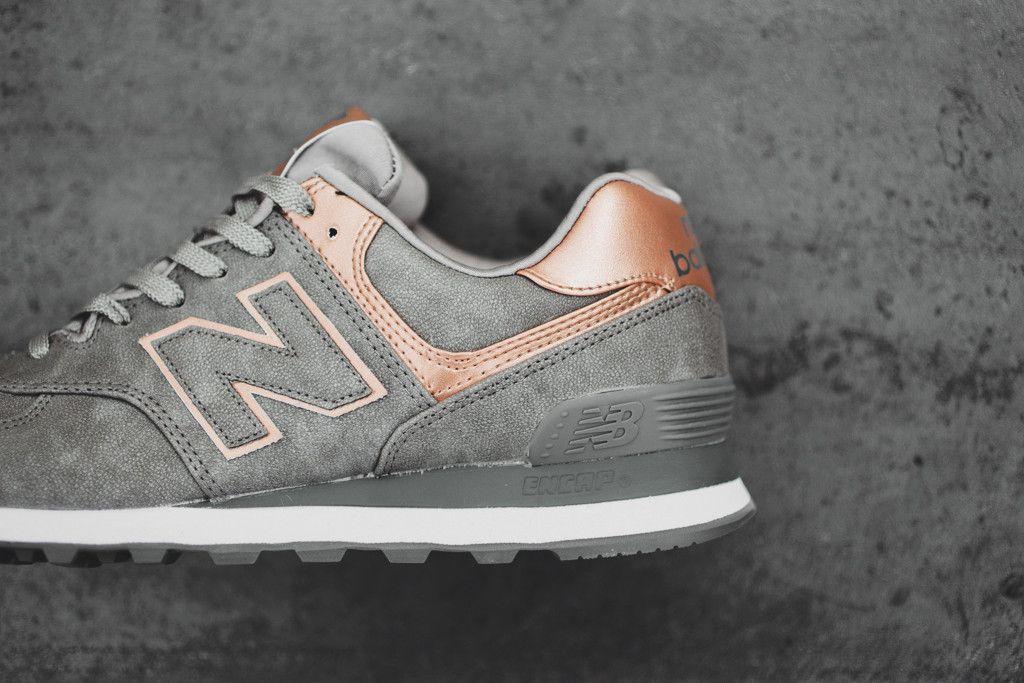 new balance women's metallic 574 precious metals collection sneaker