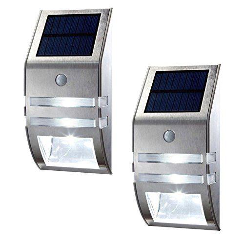 Amazon Com Oxyled 2 Pack Solar Powered Automatic Motion Sensor Super Bright Led Wall Solar Wall Lights Sensor Lights Outdoor Solar Powered Outdoor Lights