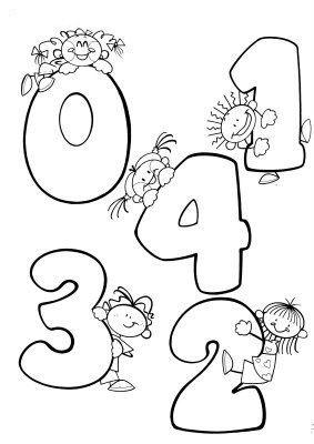 Kleurplaten Cijfers.Cijfers Rekenen Kleurplaten Cijfers