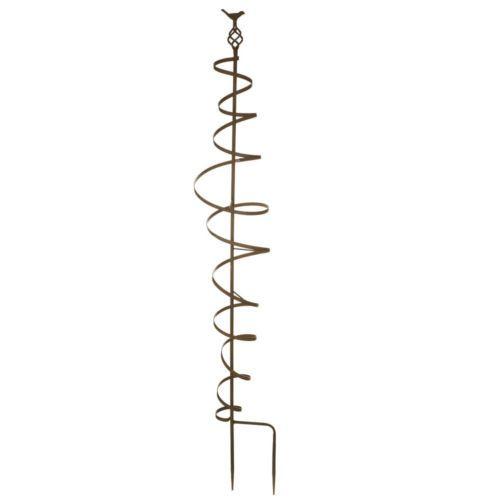 Spiral Metal Garden Trellis with Bird Detail | eBay