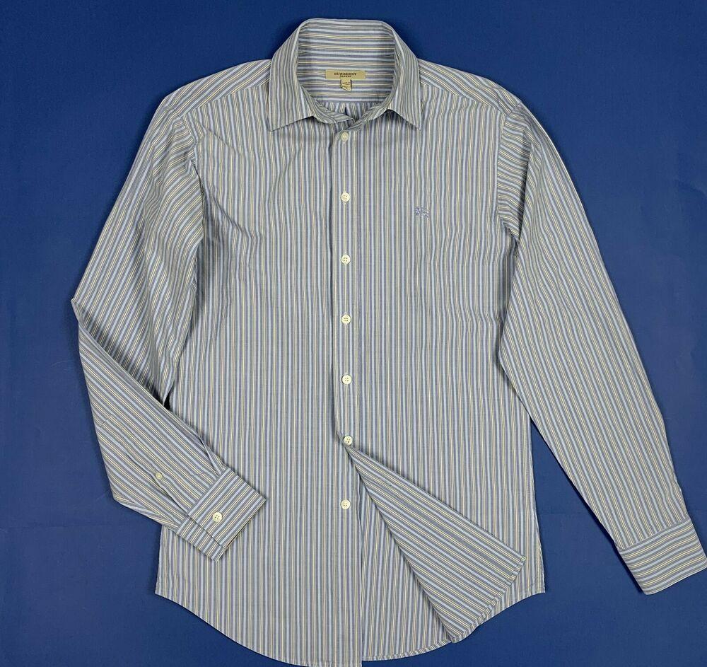 foto ufficiali a6630 6a90d Burberry london shirt camicia uomo slim usato used S a righe ...
