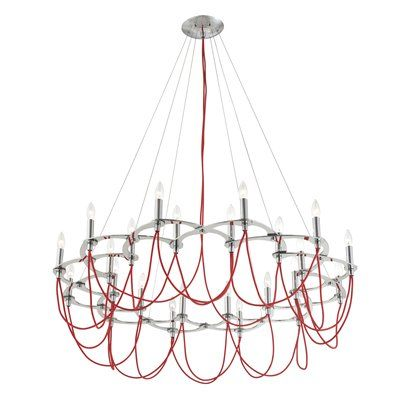 Eurofase lighting 22974 0 triumph 24 light chandelier home decor eurofase lighting triumph 24 light chandelier decor sale deals finishred light cand c incand triumph chandelier plated glass brackets textured fabric mozeypictures Image collections