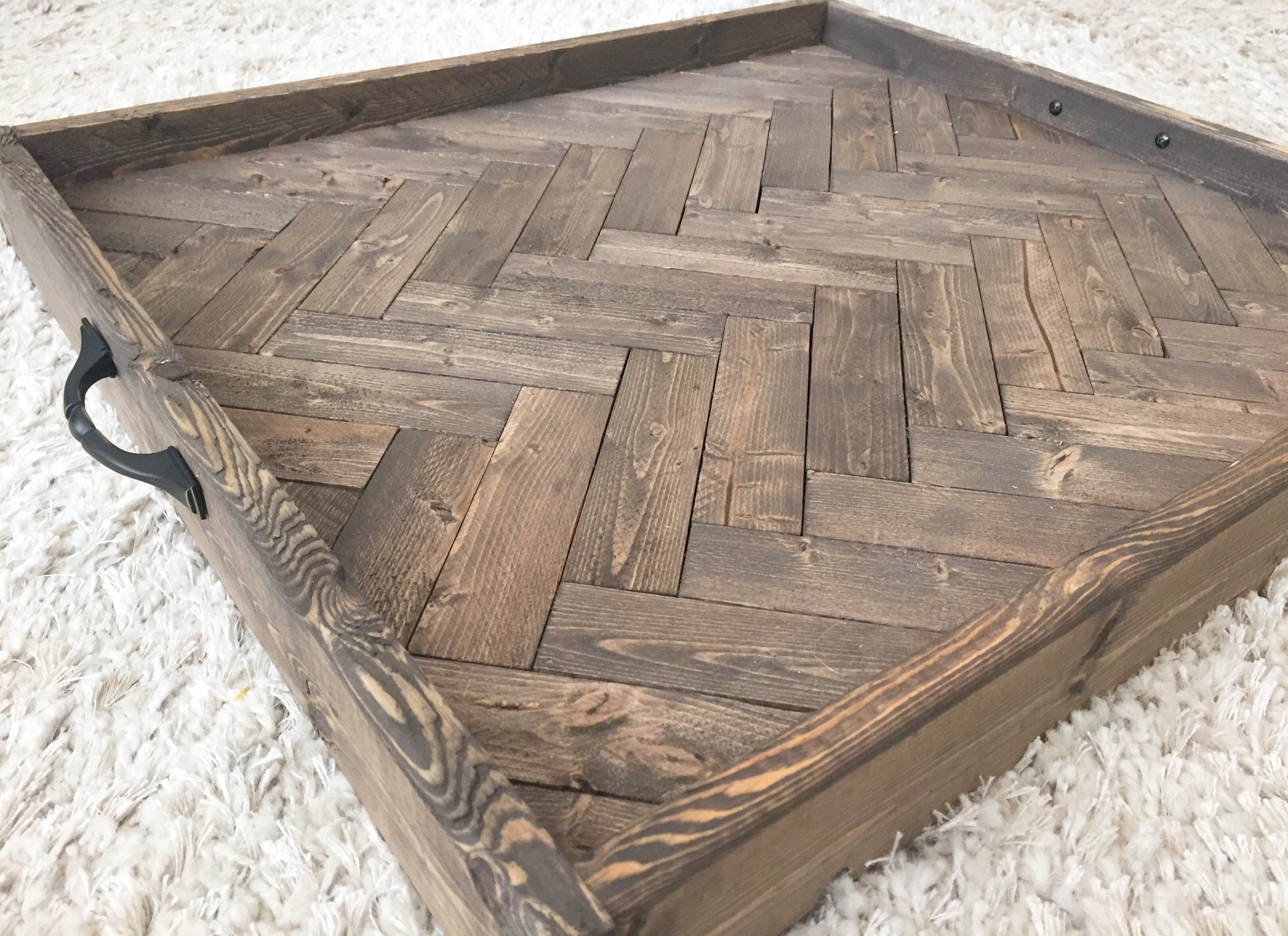 herringbone serving tray large ottoman tray pinterest large