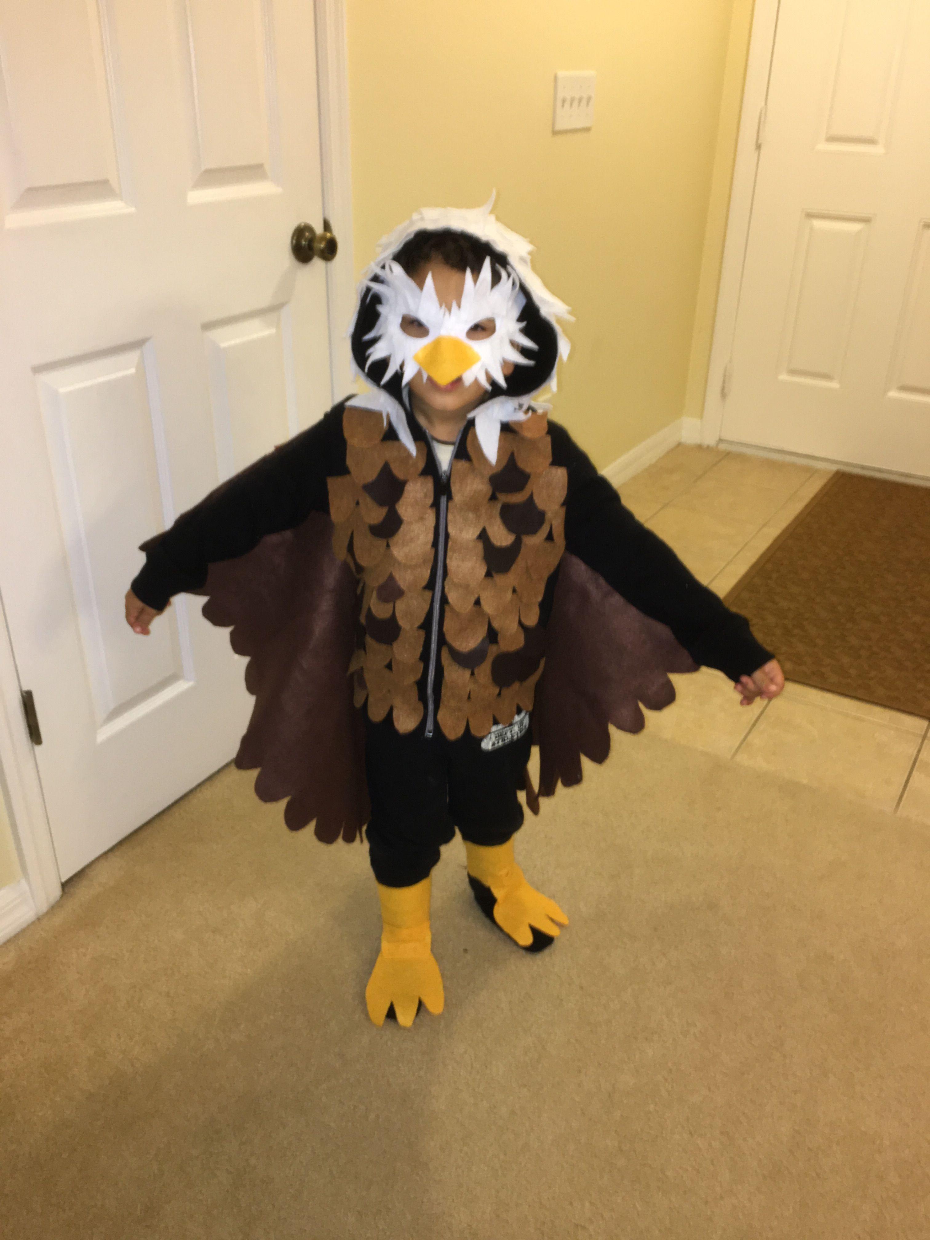 Bald Eagle Costume 5t Children Sweater Cape And Mask Top Halloween Costumes Bff Halloween Costumes Bird Costume