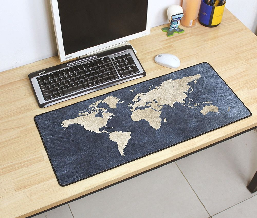 Gaming Mousepad World Map 700x300mm Diy Xl Large Mouse Pad Gamestein Mouse Pad World Map Pad