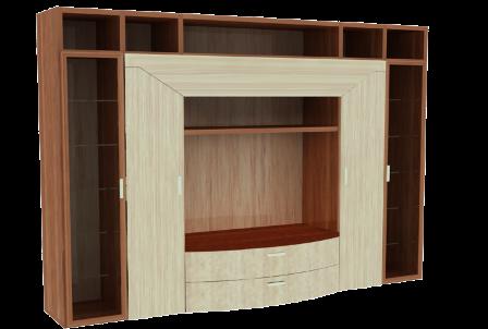 Muebles de melamina y madera plano de mueble para tv for Programa de diseno de muebles de melamina