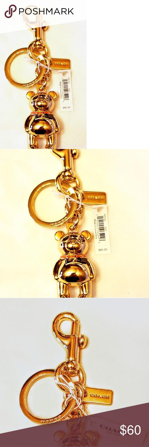 Coach bear keychain purse charm  Purse charms, Coach accessories