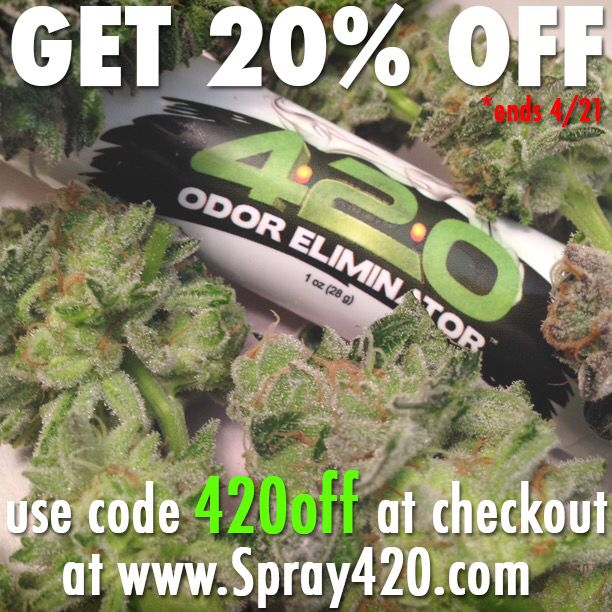 Save 20 with this coupon code at spray420 weed odor pinterest save 20 with this coupon code at spray420 fandeluxe Images