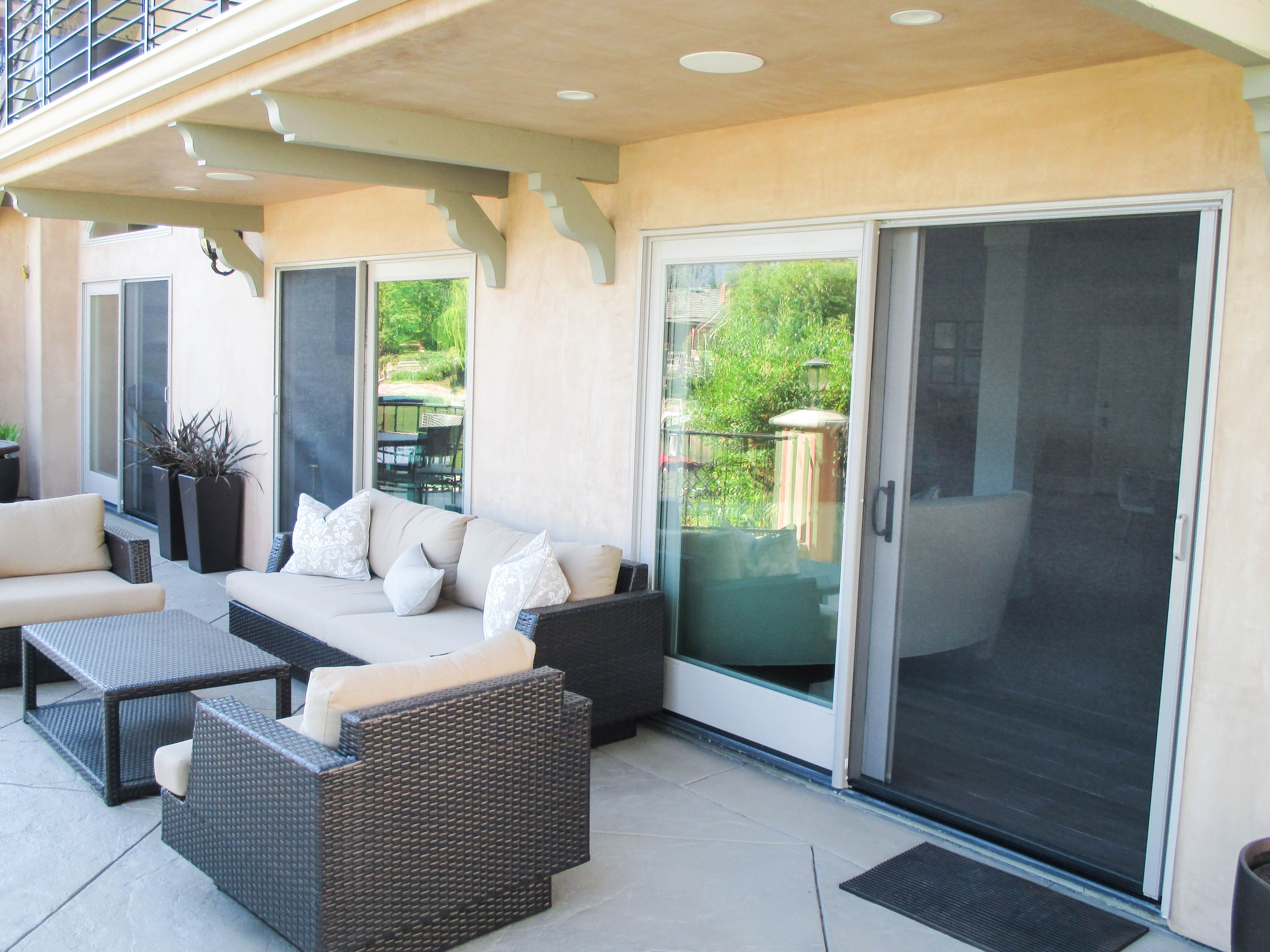 If you have a sliding door, a traditional screen door is