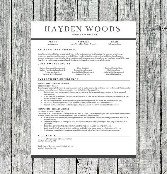 Modern Resume Template for Word Resume + Extras Template - make a resume for free and download