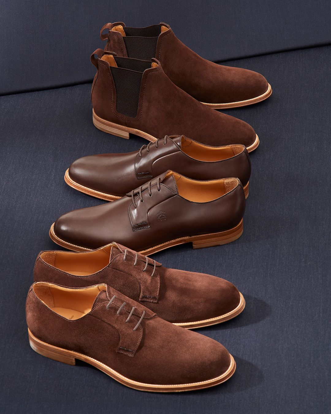 Suede Lace-Up Shoes   Brooks Brothers