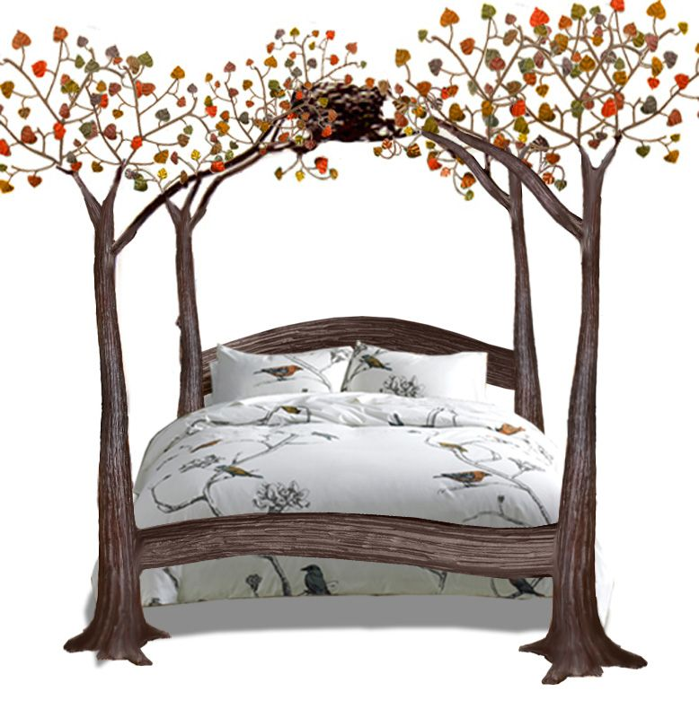 Beds Wrought Iron Beds Canopy Beds Hand Forged In America Since  sc 1 st  Pinterest & http://www.artfactory.com/images/Bed-Bird-Nest-Fall-BNB67B.jpg ...