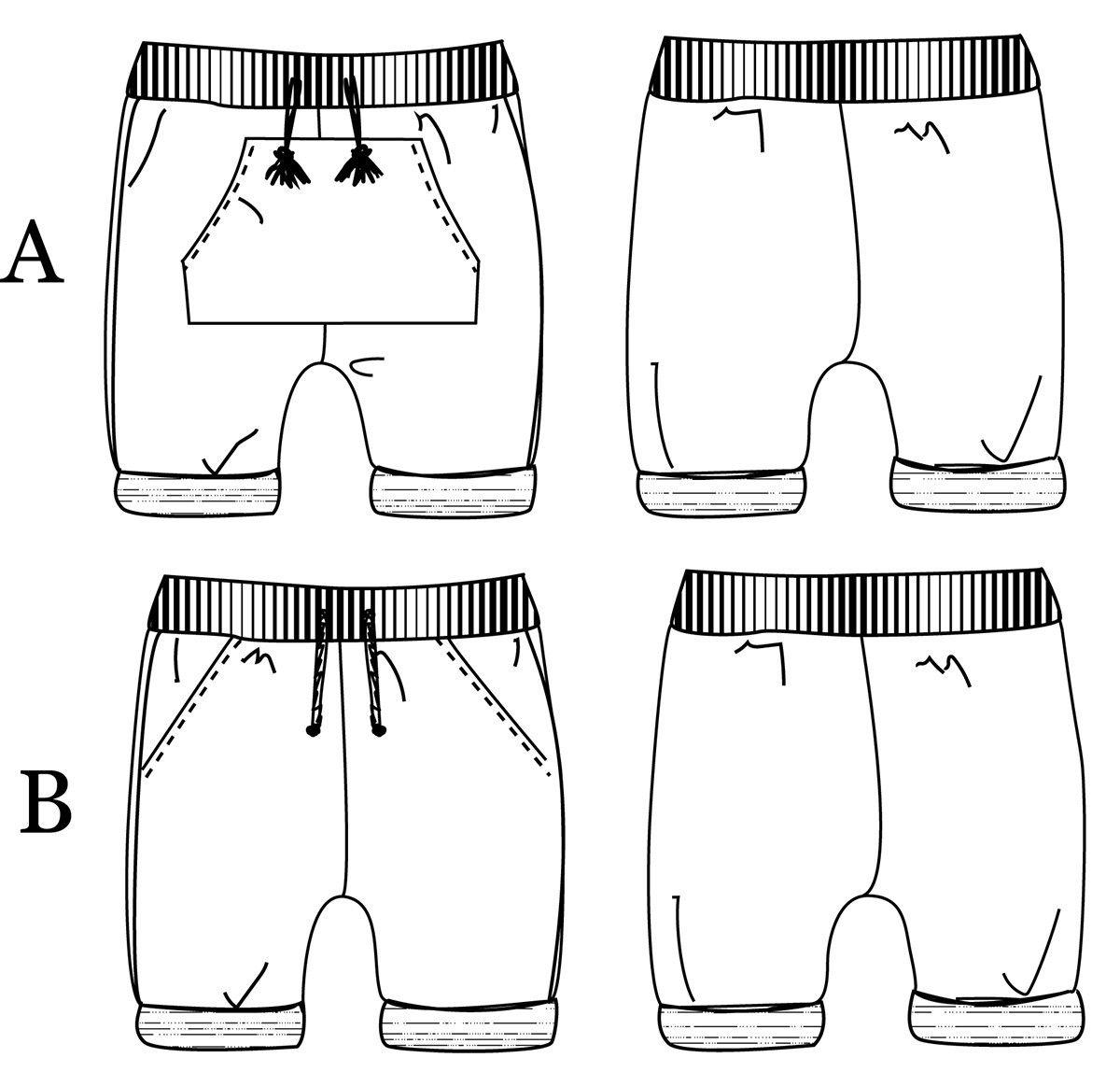 Patron de couture Bermuda / Short BIARRITZ