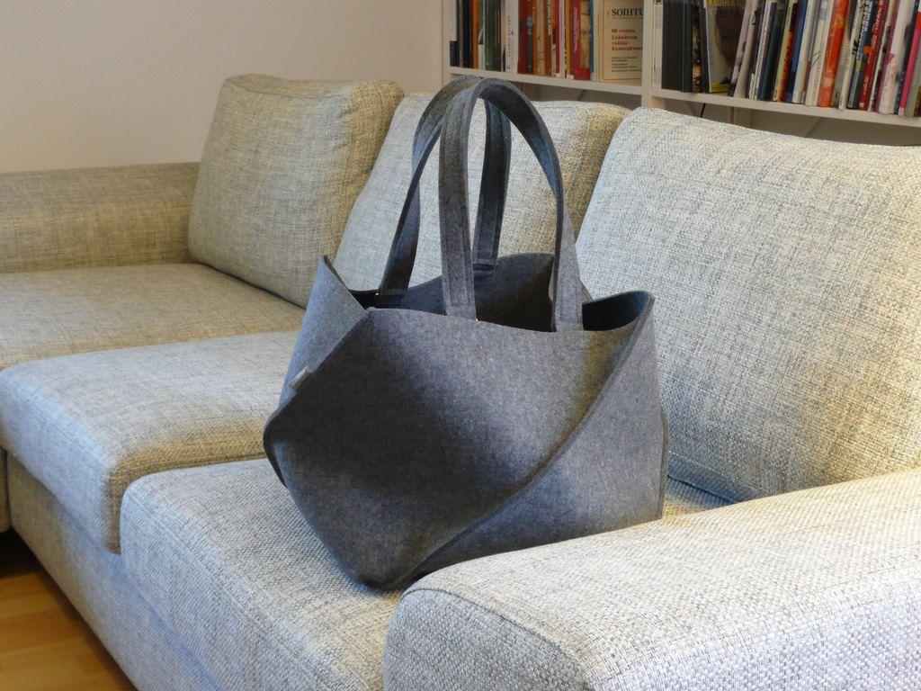 Large ToteCrossbody Bag  Library Bag  Felt Tote
