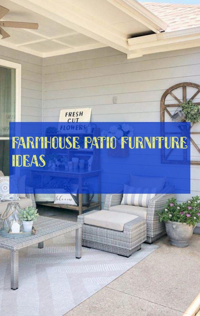 farmhouse patio furniture ideas