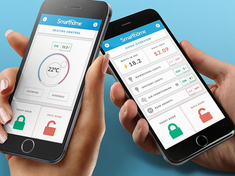 Smarthome App Mockup Smarthome App Smart Home App