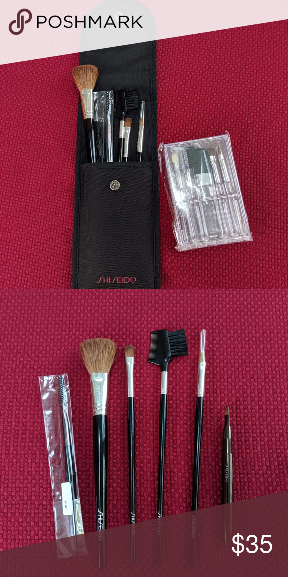 Shiseido 2 Make up Brush Set ☀︎ 1st item 6pc regular size