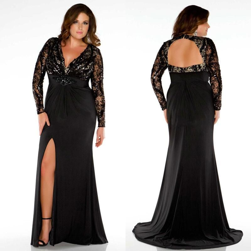 2019 Cheap Plus Size Evening Dresses Sleeves A Line Off The ...