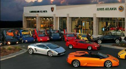 Lamborghini Atlanta Car Dealer Cool!,I passed this several times when visiting my son. Next time I may stop and buy a white one. Thinking about it.