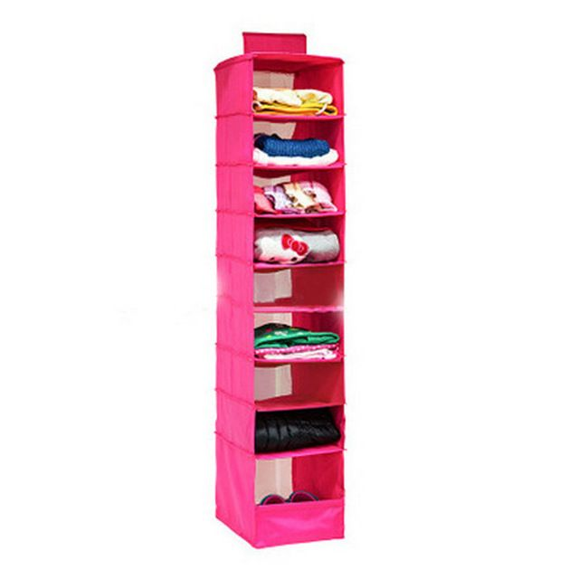 2016 New Foldable Hanging Wardrobe Locker Shelf Sweater Storage Bag Shelves  For Cassify Toys Books Clothes