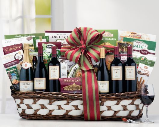 Houdini Vineyards Napa Valley Exclusive Gift Basket at Wine Country Gift Baskets