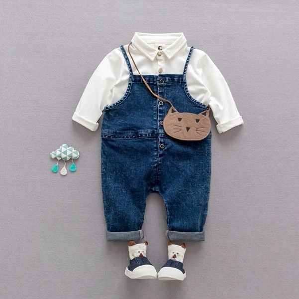 76101b20a F3702 new Product Fashion Nova Clothing Baby Clothes Cowboy Denim ...