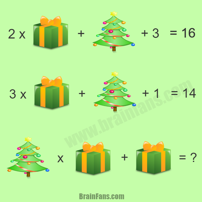 Brain teaser - Number And Math Puzzle - Merry Christmas Puzzle ...