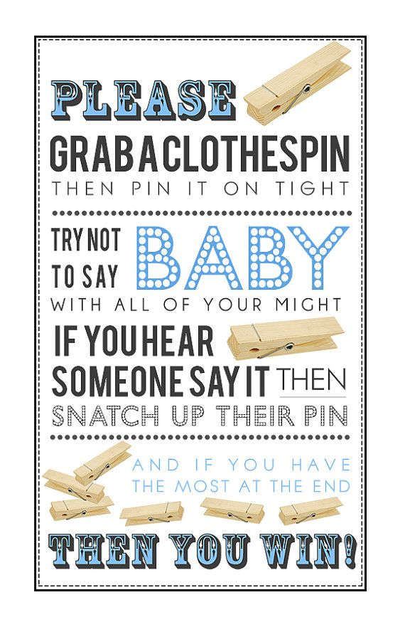 Exceptional Clothespin Game Printable PDF For Baby Boy By KrysteenaMarieDesign I Am  Going To Change This To A Bridal Shower Game!