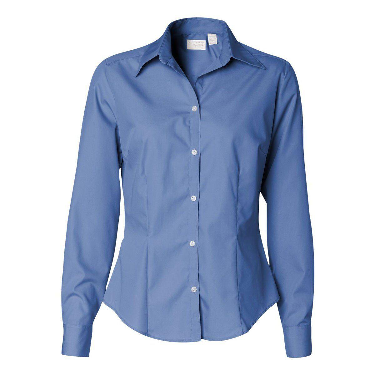 Van Heusen Women S Periwinkle Blue Silky Poplin Dress Shirt Poplin Shirt Shirts Online Shopping Clothes