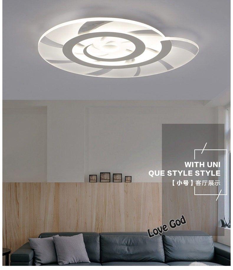 Moderne led plafonnier salon lumières acrylique décoratif abat jour