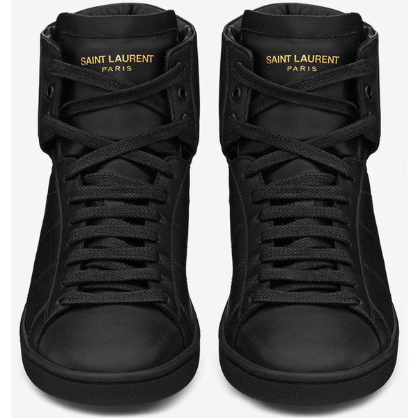 a9f98ed4 Saint Laurent Signature Sl/01H Court Classic High Top Sneakers ($505 ...