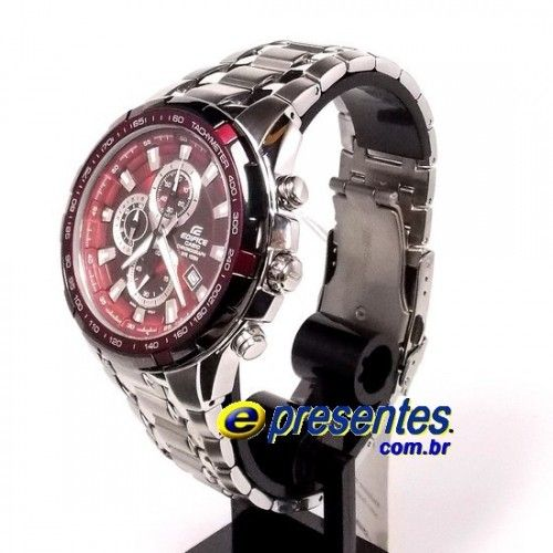 53b5360804b EF-539D-4AVDF Relógio de Pulso Casio Edifice Aço Fundo Vinho ...