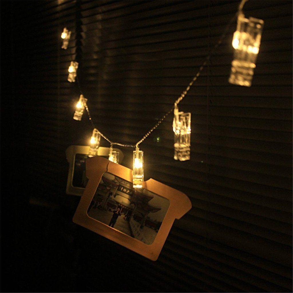 Beleuchtung Lichterkette | Ergeob Foto Klammer Lichterkette Diy Handgemachte